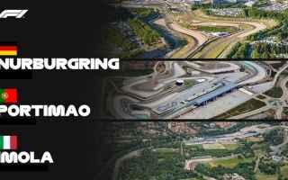 Formula 1: imola  portimao  nurburgring  f1  f12020