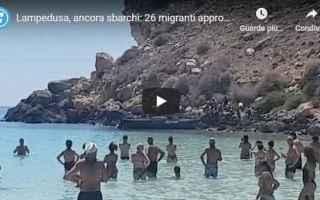 Notizie locali: lampedusa video migranti spiaggia