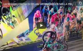 Ciclismo: polonia ciclismo sport video incidente