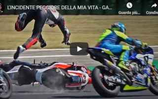 Motori: alberto naska video moto incidente