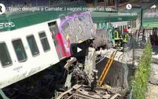 Milano: incidente treno carnate video milano