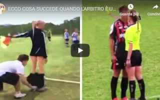 Sport: arbitri donna calcio video sport