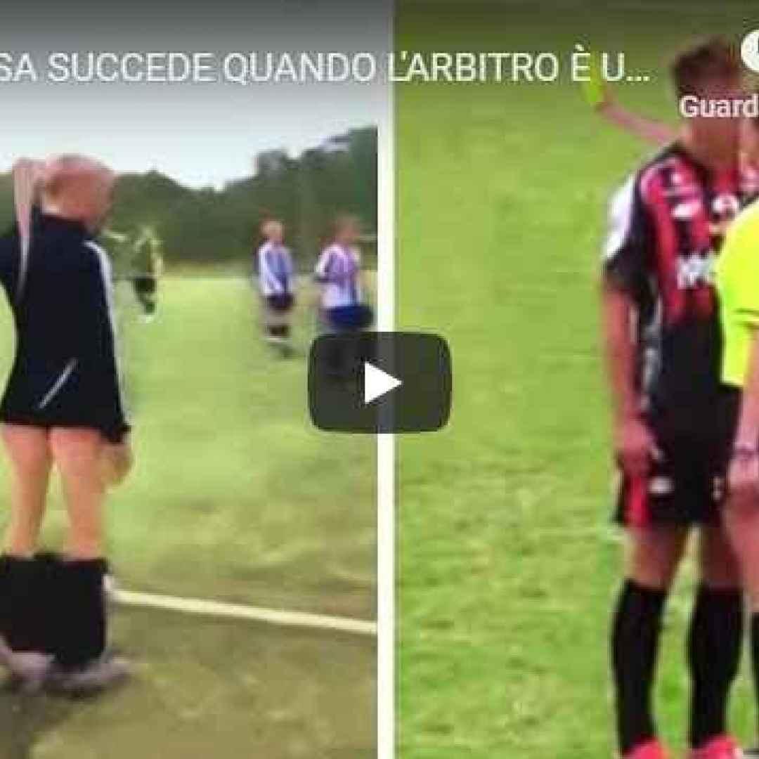 arbitri donna calcio video sport