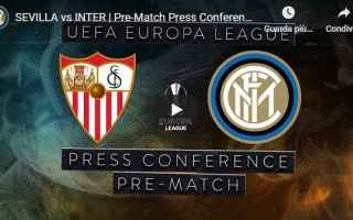 Europa League: inter conferenza video conte calcio