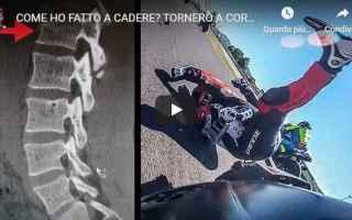 Motori: alberto naska video moto incidente