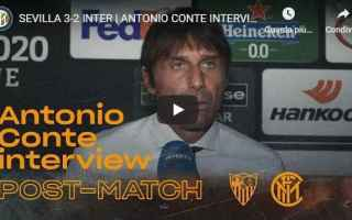 Europa League: inter intervista video conte calcio