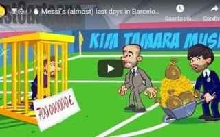 Calcio: messi barcellona spagna video calcio