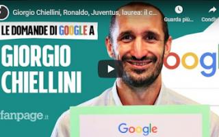 Serie A: juve video intervista chiellini googe