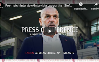 Serie A: milan campionato video pioli calcio