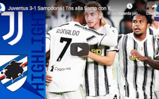 Serie A: juventus sampdoria video calcio gol