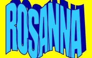 rosanna  etimologia  nomi