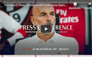 Europa League: milan video conferenza pioli europa