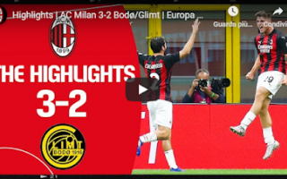 Europa League: milan video calcio europa sport