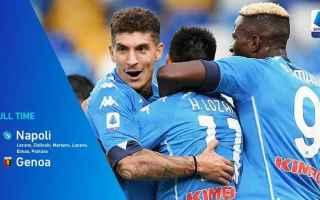 Nella seconda giornata show del Napoli al San Paolo battendo 6-0 il Genoa, protagonista Lozano autor