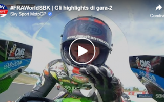 Motori: superbike video sbk francia gara