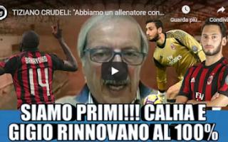 Serie A: milan video tiziano crudeli calcio tv
