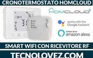 Tecnologie: cronotermostato smart homcloud wi-fi con