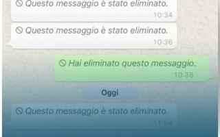 Social Network: recuperare  messaggi cancellati whatsapp