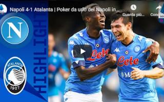 Serie A: napoli atalanta video gol calcio