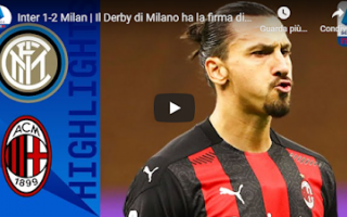 Serie A: milano derby inter milan video calcio