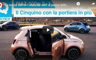 Motori: auto video fiat elettrica automobili