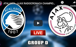 bergamo atalanta ajax video calcio live