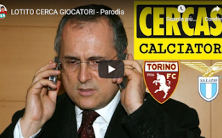 lazio video parodia lotito calcio