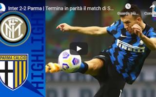 Serie A: milano inter parma video calcio gol