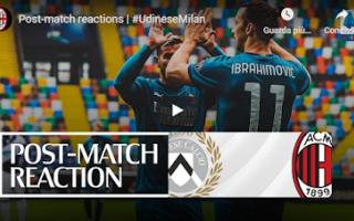 Serie A: udine milan pioli ibra video calcio