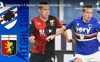 Serie A: genova sampdoria genoa video calcio gol