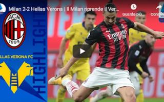 Serie A: milano milan verona video calcio gol