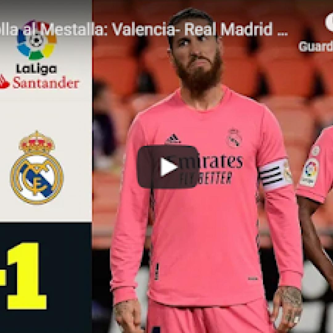 valencia real madrid video calcio gol
