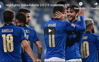 Nazionale: reggio emilia italia polonia video gol
