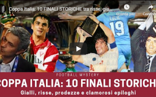 Coppa Italia: calcio video coppa italia storia