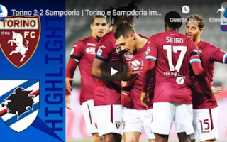 torino sampdoria video gol calcio