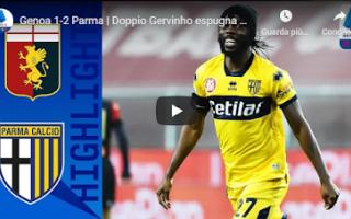 Serie A: genova genoa parma video calcio gol