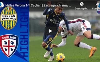 Serie A: verona cagliari video gol calcio