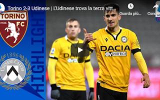Serie A: torino udinese video gol calcio