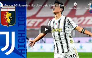 Serie A: genova genoa juventus video calcio gol