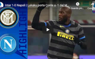 milano inter napoli video calcio gol