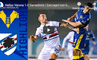 verona sampdoria video gol calcio