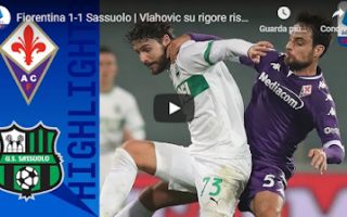 firenze fiorentina sassuolo video gol