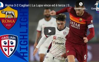 roma cagliari video calcio gol