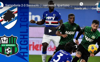 genova sampdoria sassuolo video calcio