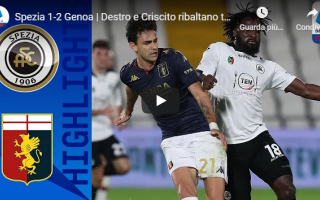 spezia genoa video gol calcio