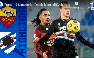 Serie A: roma sassuolo video calcio gol