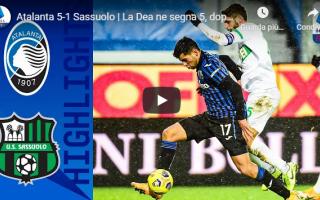 Serie A: bergamo atalanta sassuolo video calcio