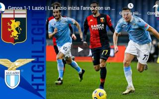 Serie A: genova genoa lazio video calcio gol