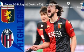 Serie A: genova genoa bologna video calcio gol