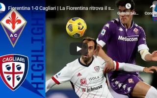 Serie A: firenze fiorentina cagliari video calcio